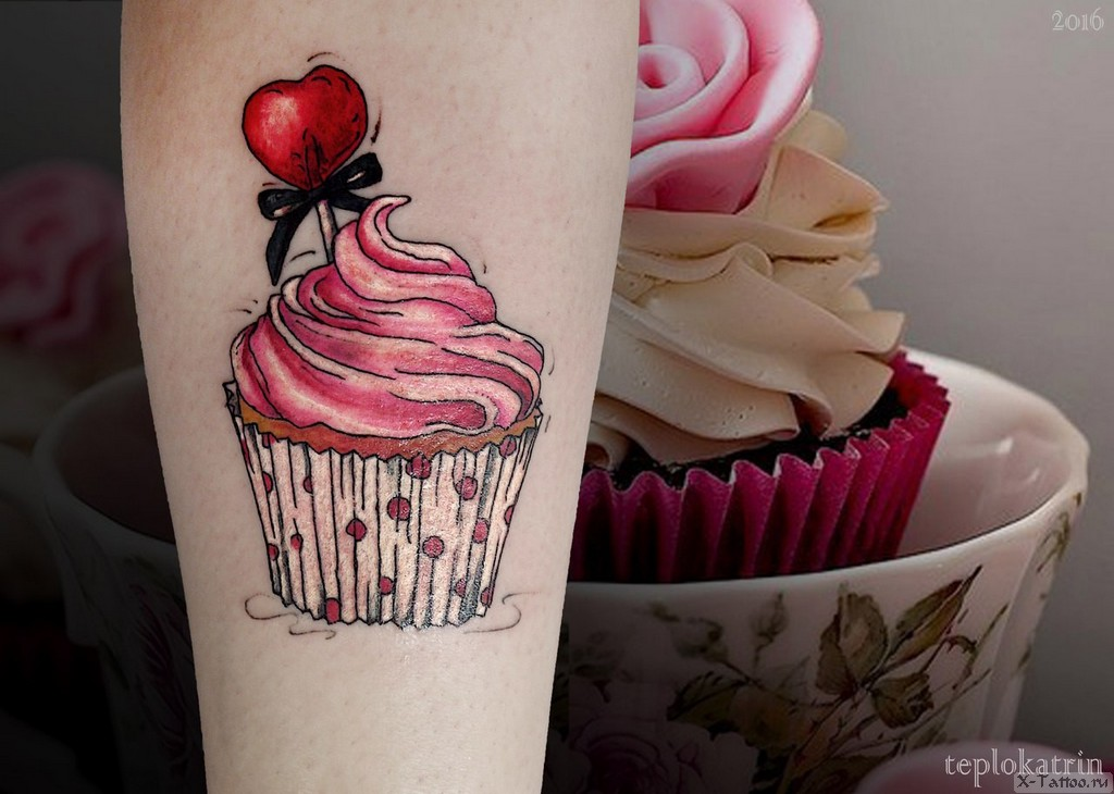 женский эскиз кекса