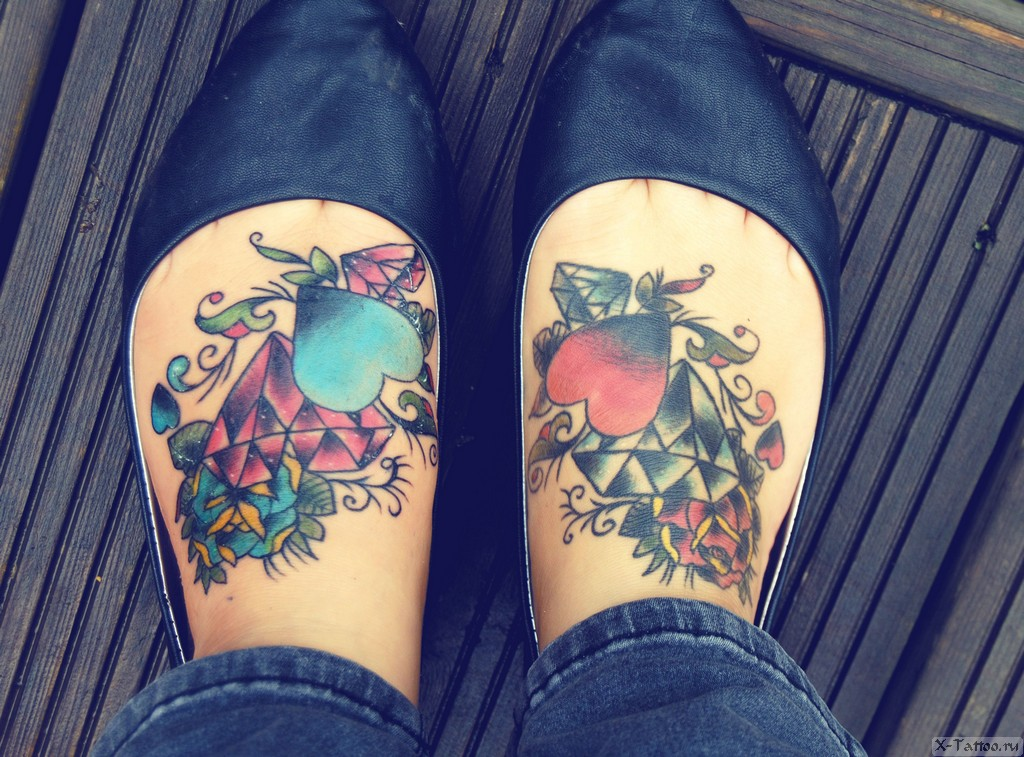 красивые забитые ножки