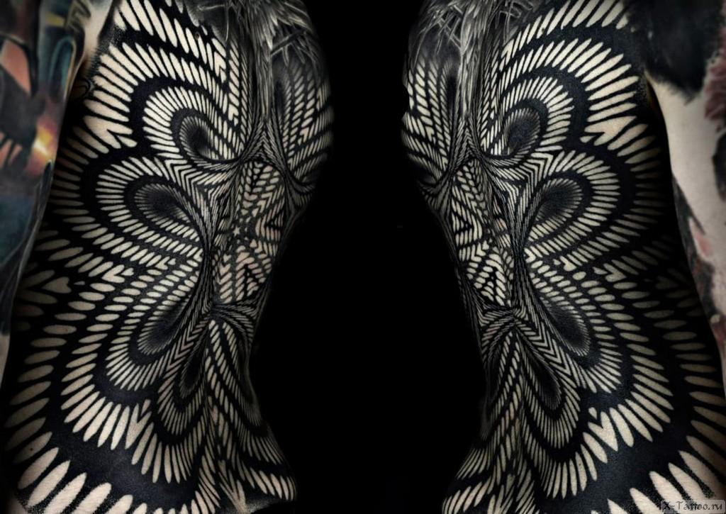 орнамент на спине