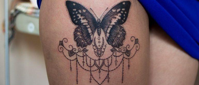бабочки на ноге