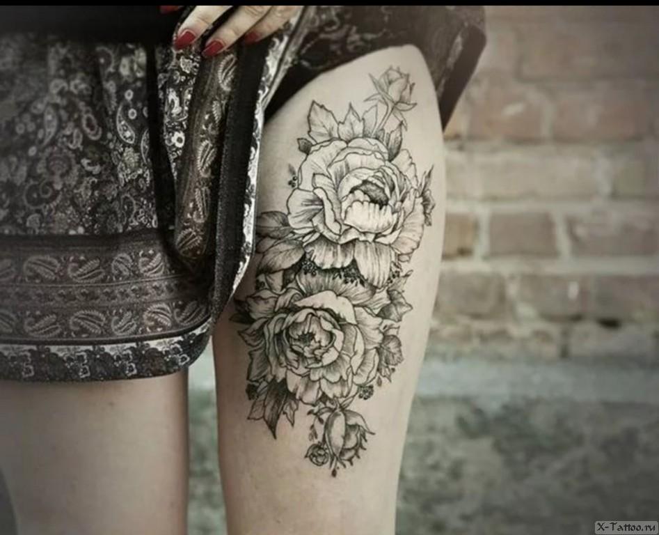цветы на ноге