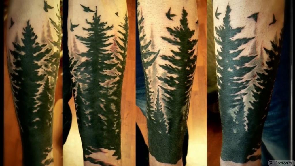 черный лес на руке
