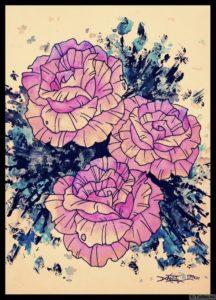 rozovye rozy