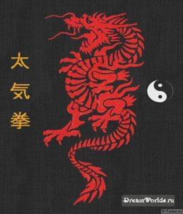 devushka s tatuirovkoy drakona