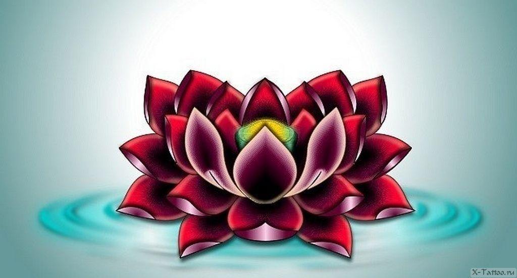 eskizy tatu lotos
