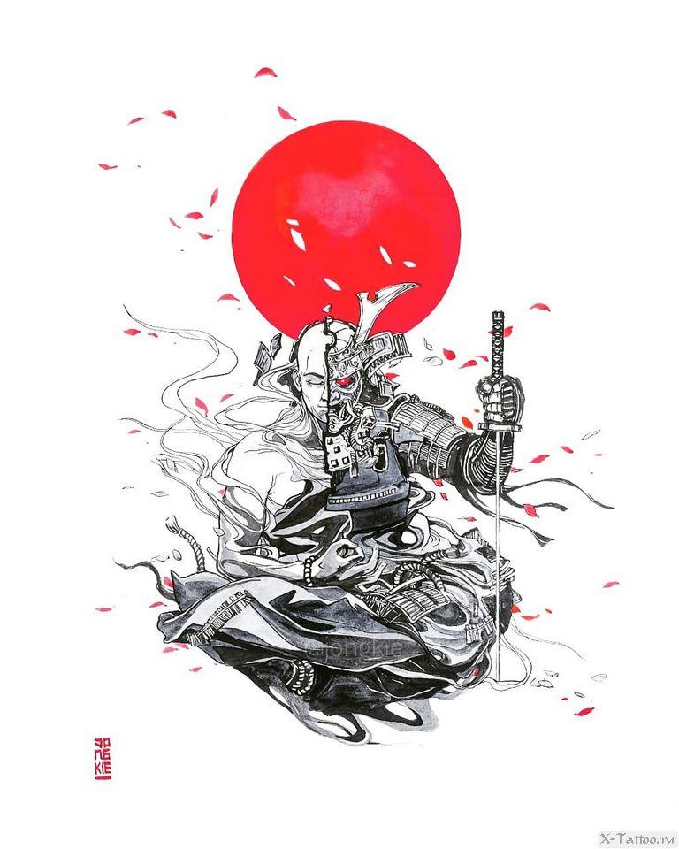 eskizy tatu samuray