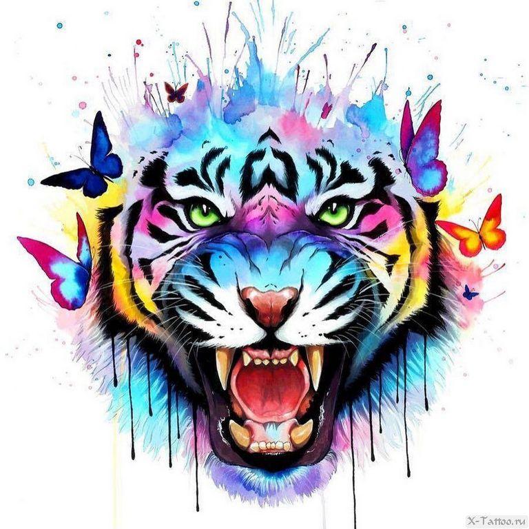 eskizy tatu tigr