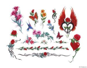 krasnye tsvety
