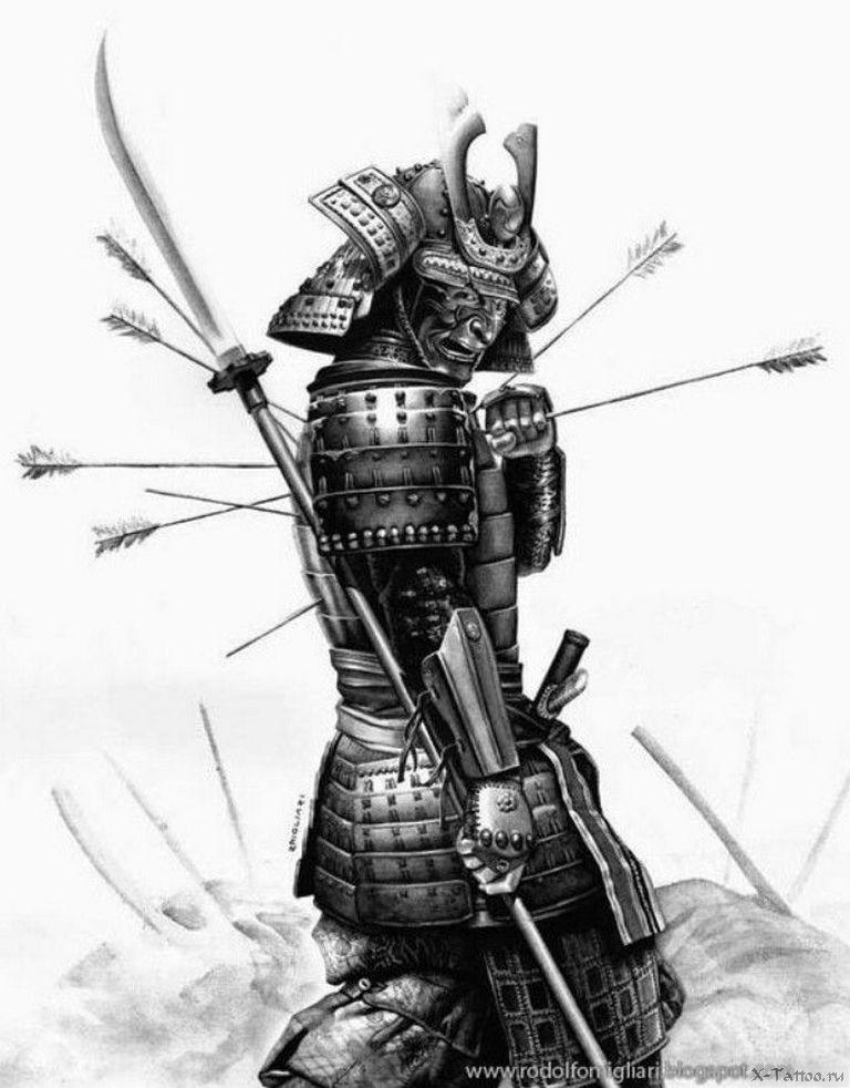 самурай рисунки для тату