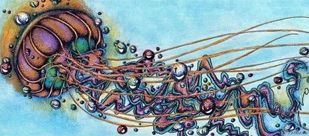 eskizy tatu meduza