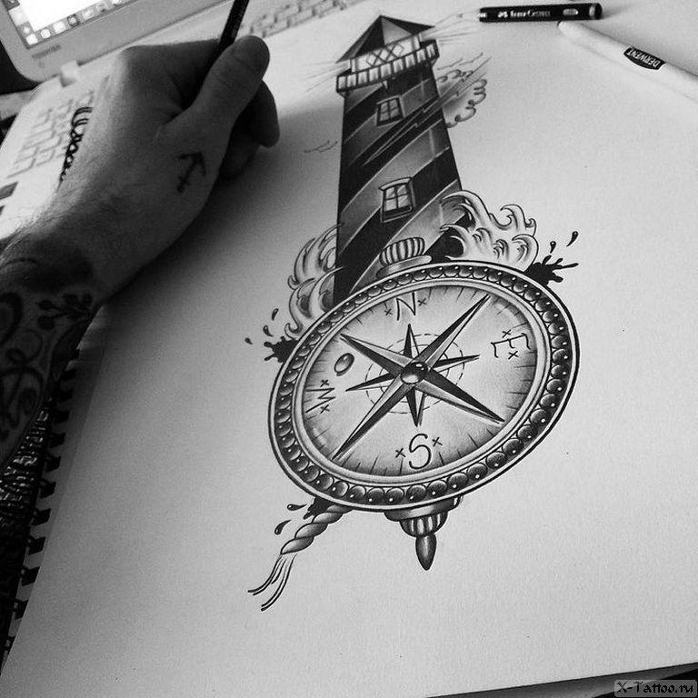 длинным картинки тату компаса другом