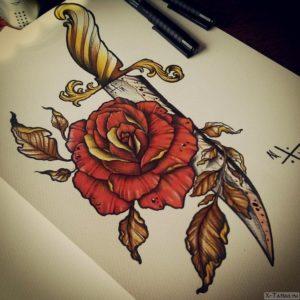 roza s listyami