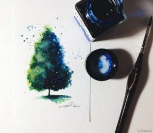 stil akvarel