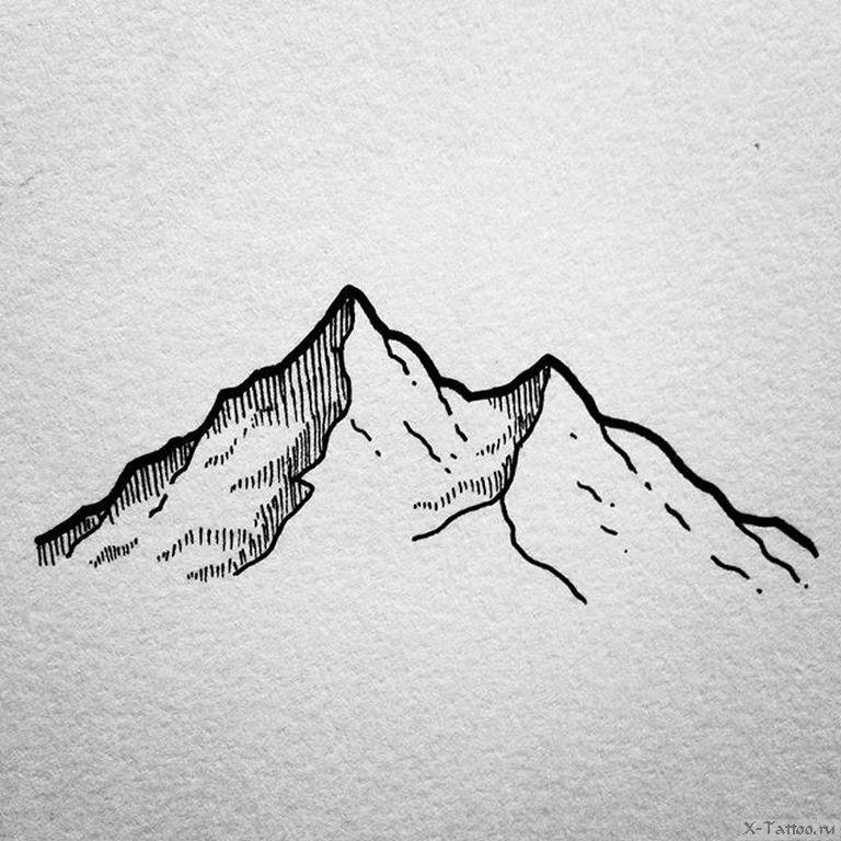 Картинки гор эскизы
