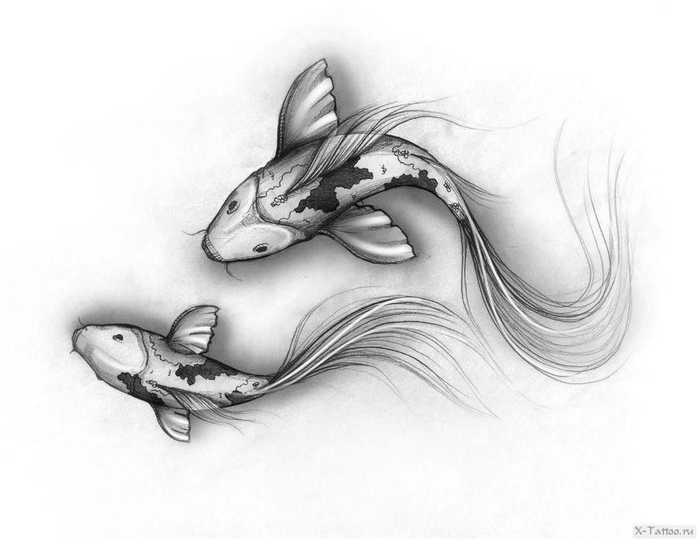 eskizy tatu ryba
