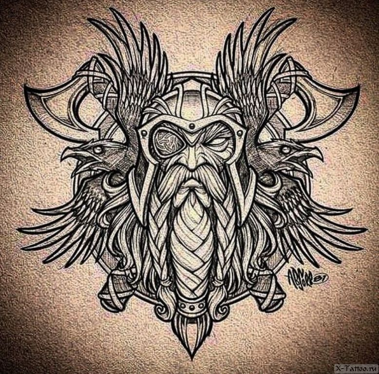 eskizy tatu viking