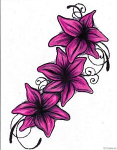 rozovye lilii