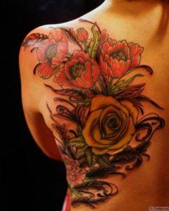 tsvety na spine i boku
